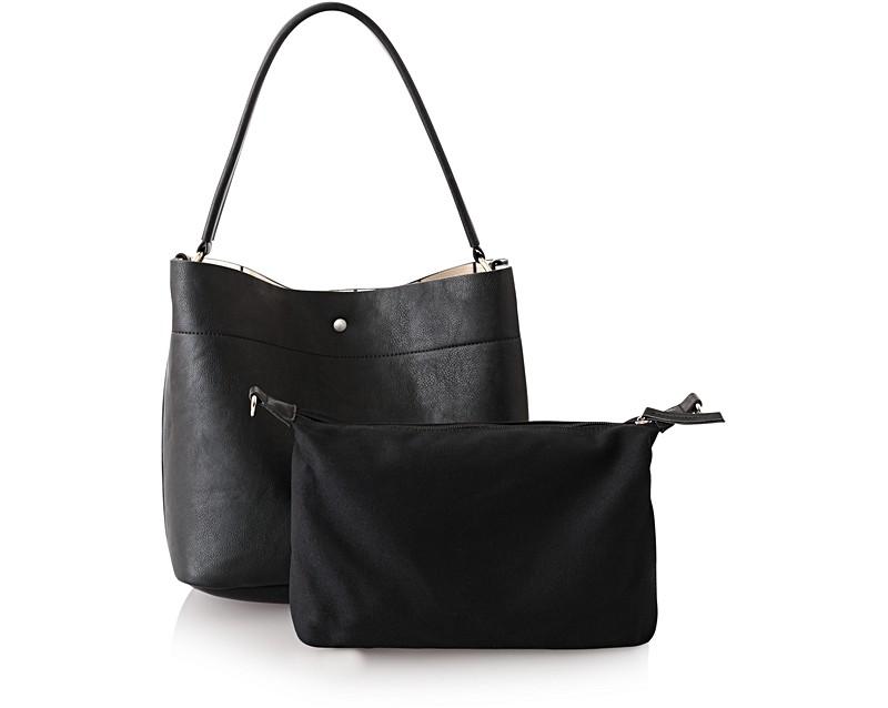 Black Black Hobo Slouch Bag | Oliver Bonas