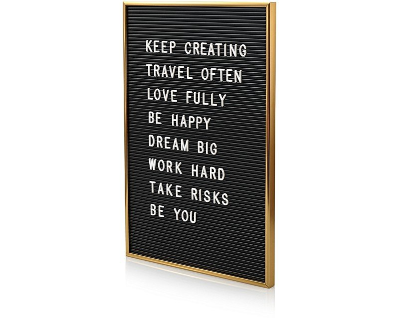 gold letter board university gifts oliver bonas. Black Bedroom Furniture Sets. Home Design Ideas
