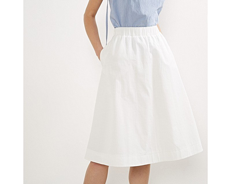 Cotton Midi Skirt - Skirts
