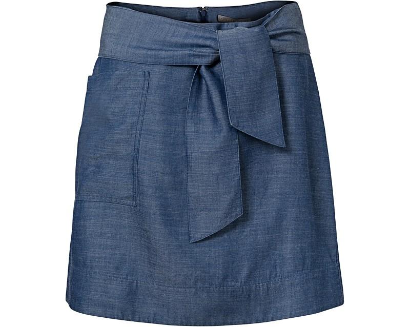 Blue Mesolite Denim Skirt | Oliver Bonas