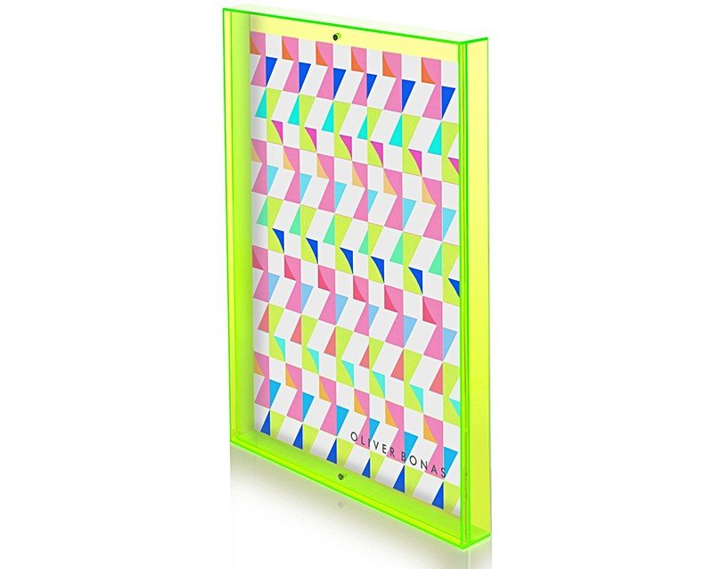 A3 Yellow Acrylic Neon Block Wall Frame Oliver Bonas