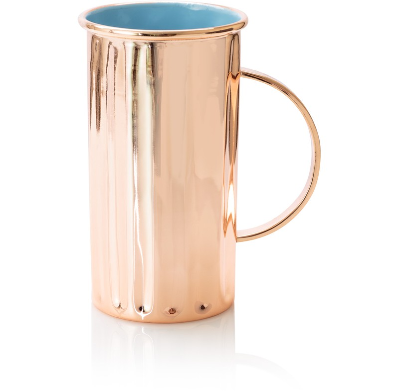 Copper & Blue Hi Ball Cocktail Cup