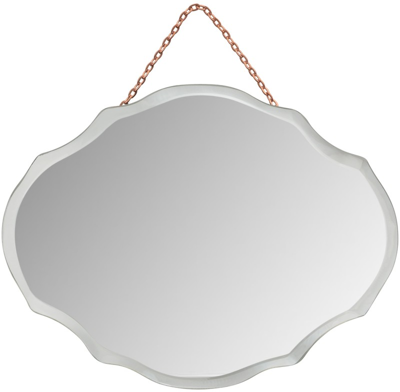 Mini Oval Art Deco Mirror